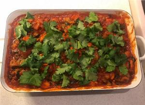 Ofen-Currygemüse